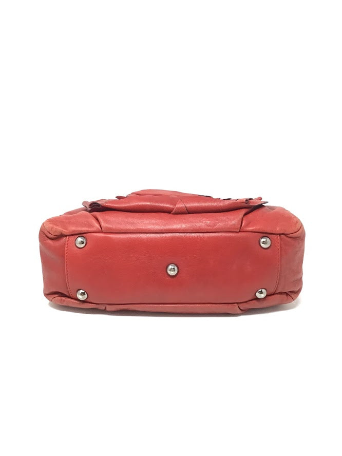 Valentino Red Lamb Leather Flower Bag