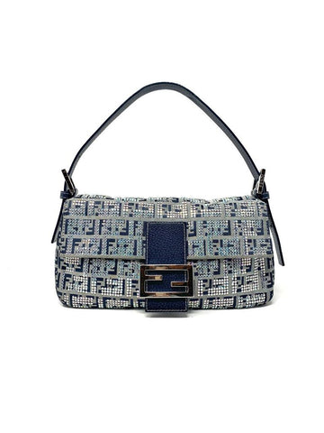 Fendi Navy Handbag w/ Sequins