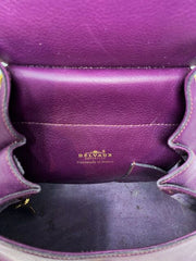 Delvaux Purple Flap Over Backpack W/Gold Hardware (00-09)