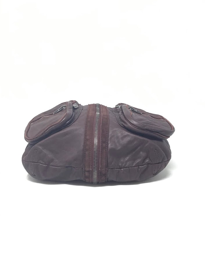 Alexander Wang Burgundy 'Donna' Zipper/Knot Hobo Bag