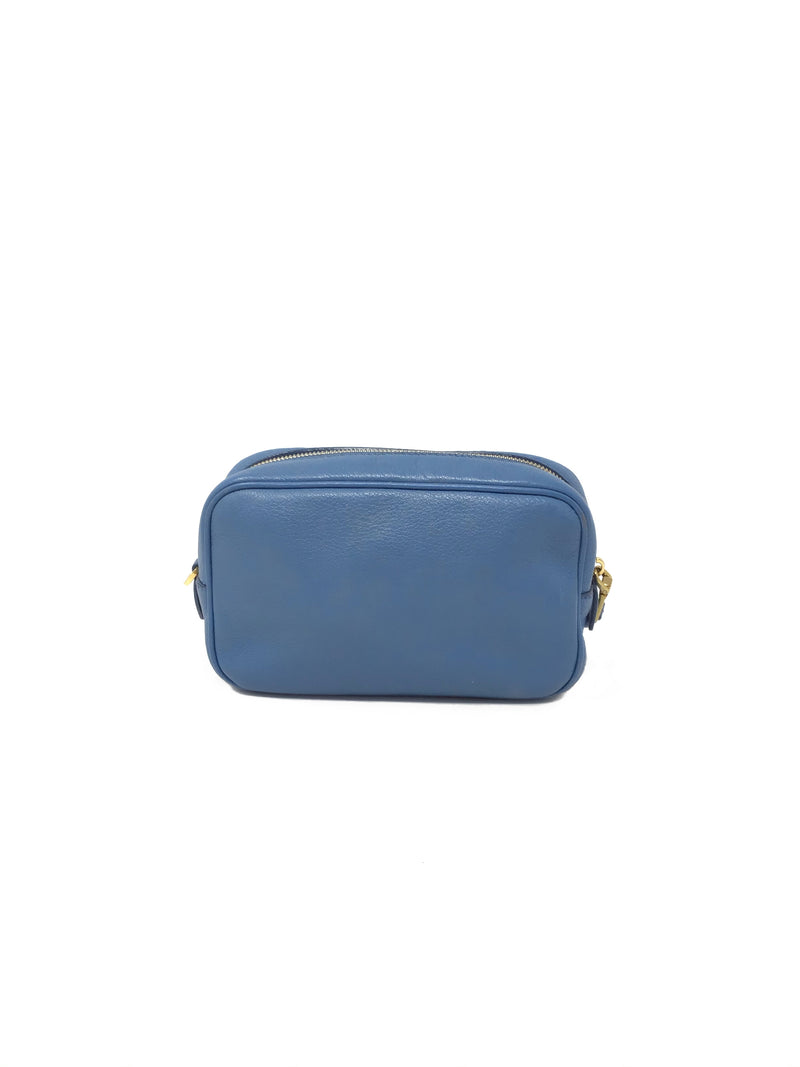 Prada  Leather Cosmetic Pouch Mini Bag