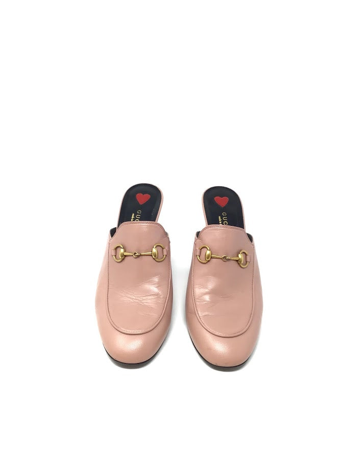 Gucci W Shoe Size 39 Leather Princetown Mules High Heels