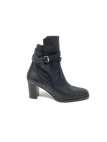 Hermes 38 'Songe' Leather Wrap Ankle Bootie