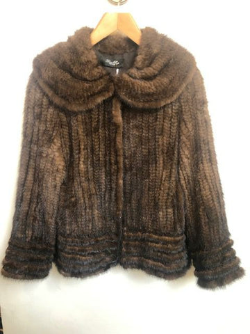 Size M Brown Fur Coat