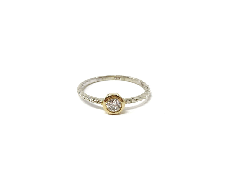 White and Yellow Gold Diamond Ring