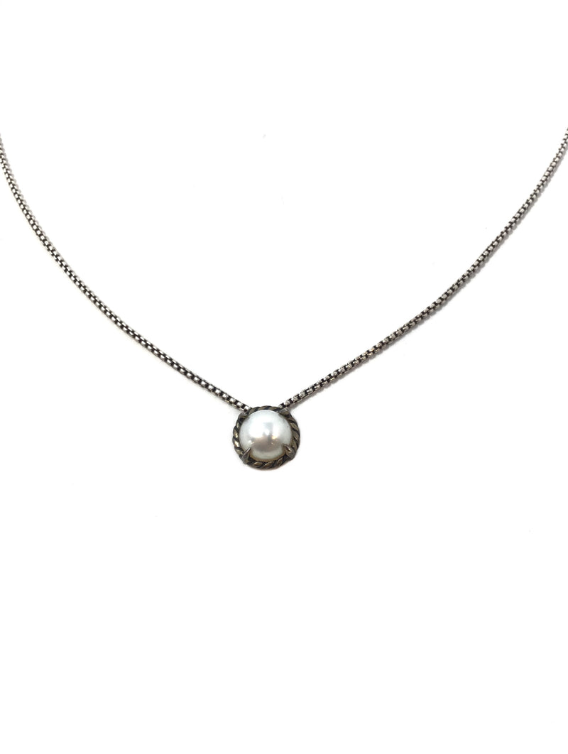 David Yurman WB! 'Chatelaine' Pearl Pendant Necklace