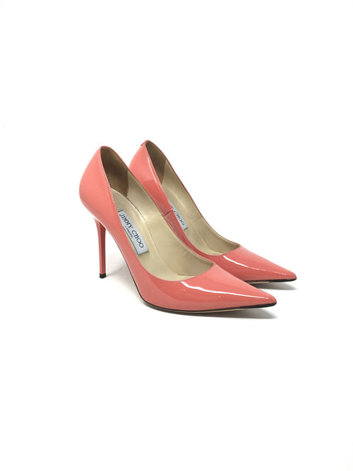 Jimmy Choo Size 38 'Love' Patent 100 Pointed Toe Pump