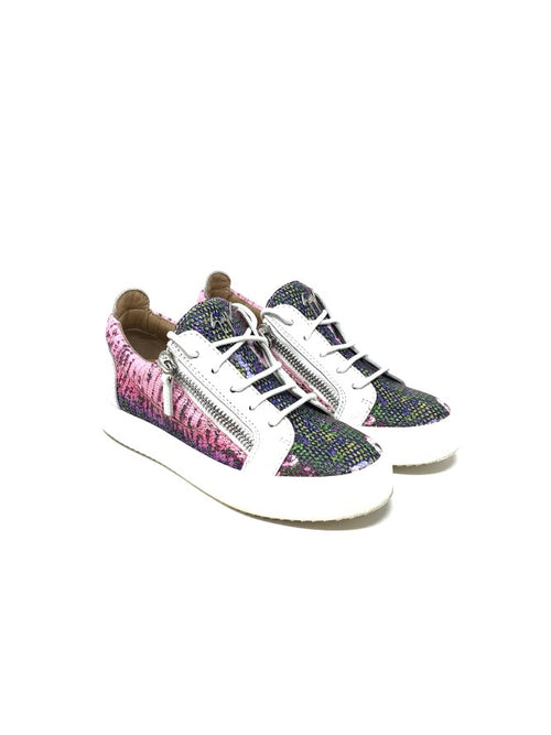 Giuseppe Zanotti 37 Colorful 'May London' Zip Sneakers