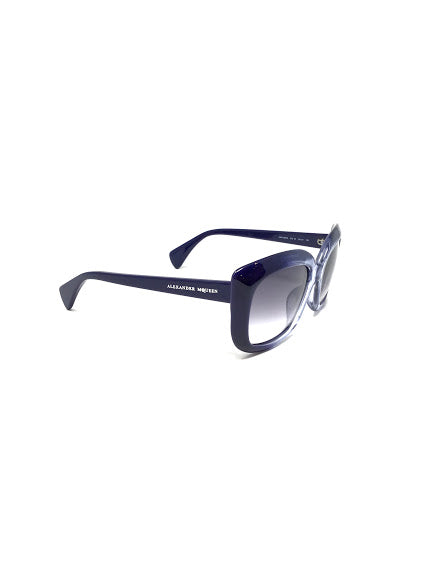 Alexander McQueen Blue Oversized Ombre Cat Eye Sunglasses