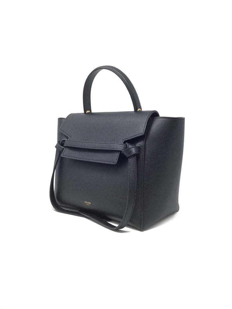 Celine Black 'Micro' Calfskin Belt Bag