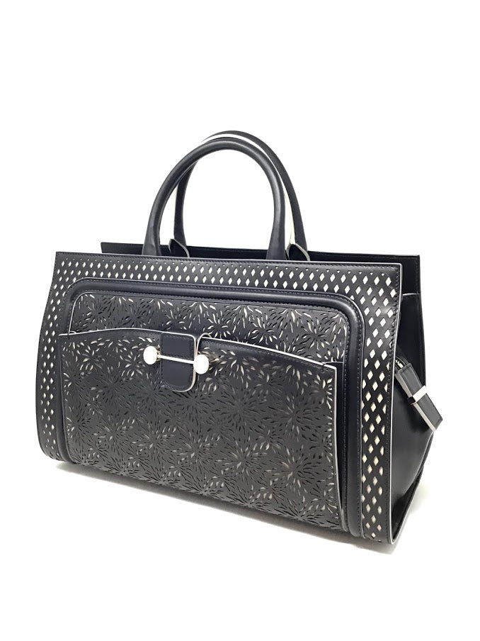 Jason Wu Black 'Daphne' Laser-Cut East-West Tote