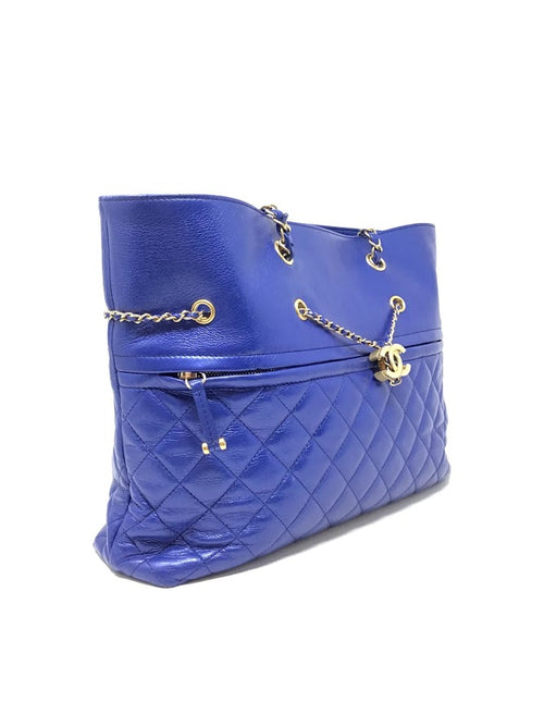 Chanel Electric Blue WB '19 Chain Stitch LG EW Tote