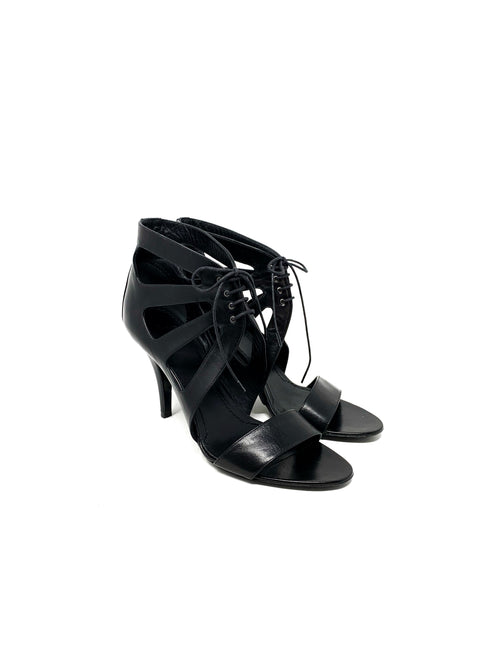 Givenchy Size 38.5 Lace Up Heel