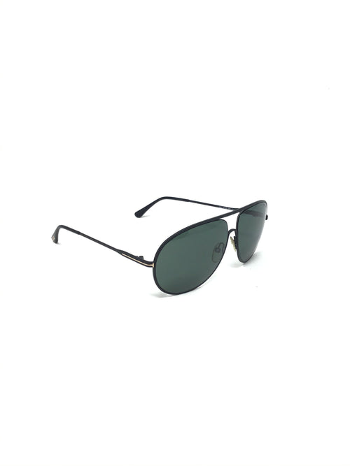 Tom Ford 'Cliff' Matte Modified Aviator Sunglasses
