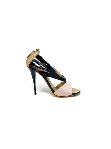 Giuseppe Zanotti Tri-Color Cut Out High Heels