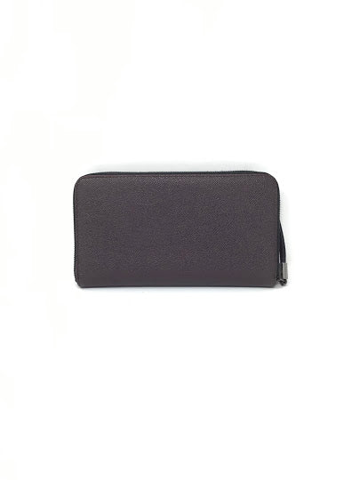 Burberry Grainy Zip Around Oversized Wallet