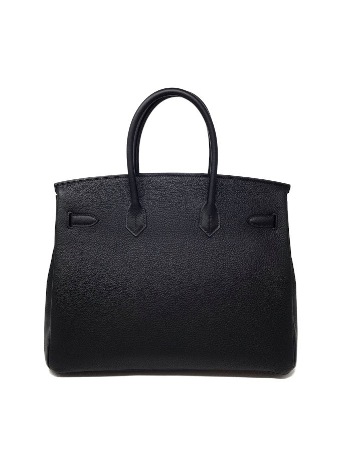 Hermes Black/Gold '19 Togo Leather 'Birkin' 35