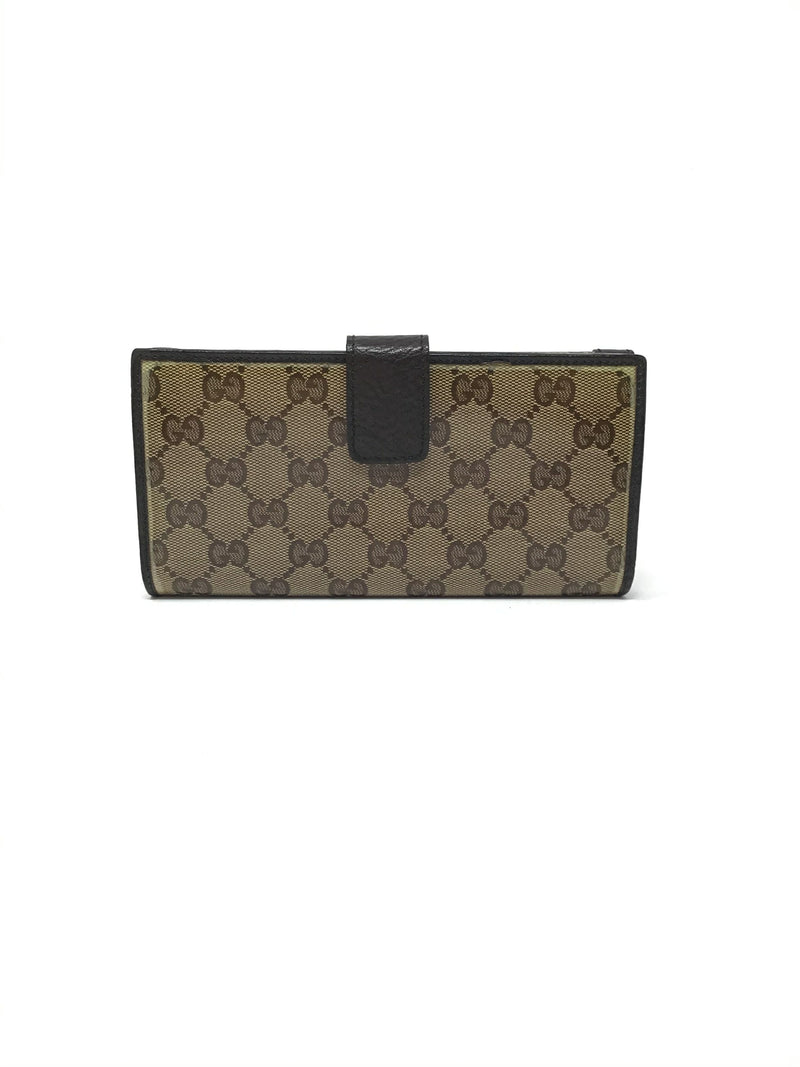 Gucci GG Crystal Coated Canvas Heart Wallet