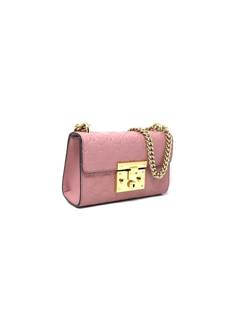 Gucci Small Padlock Embossed Leather Crossbody