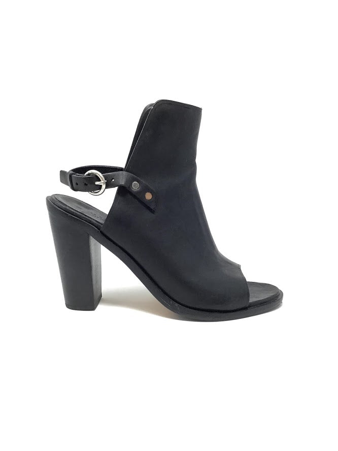 Rag and Bone 40 Leather Slingback 'Wyatt' Open Toe Booties