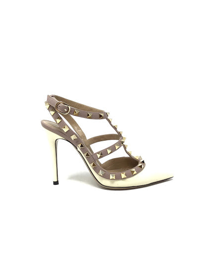 Valentino W Shoe Size 36 Patent Rockstud Caged Pointed Toe Pump 100mm