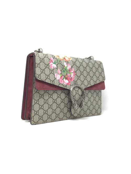 Gucci Monogram 'Dionysus' Med GG Supreme Blooms Bag