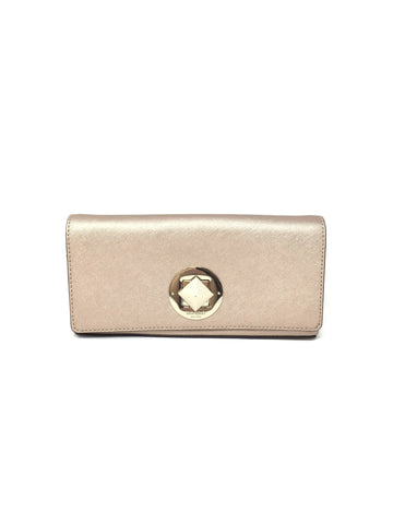 Kate Spade Rose Gold 'Keira Newbury' Metallic Saffiano Clutch