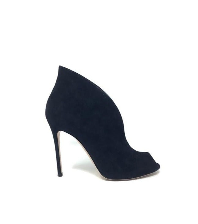 Gianvito Rossi Size 39 WB! 'Vamp' Peep Toe Suede Ankle Booties