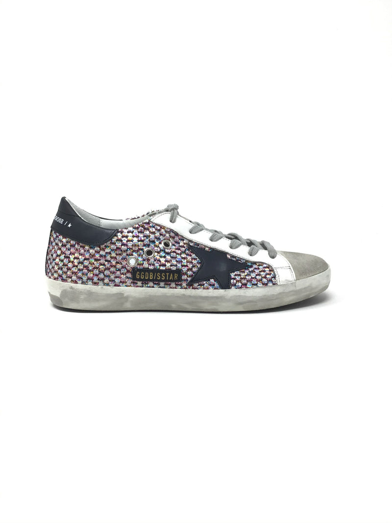 Golden Goose W Shoe Size 39 WB Super-Star Iridescent Ice/Suede Sneaker