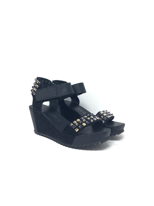Pedro Garcia W Shoe Size 37 'Fortuna' Studded Leather/Suede Wedge