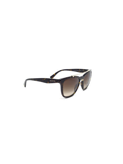 Valentino Square Frame W/ Gold Bar Sunglasses