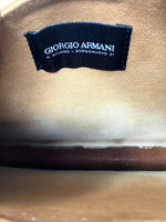 Giorgio Armani Luggage Acrylic Beaed Structured Clutch