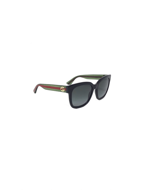 Gucci Glitter Striped Stem Sunglasses