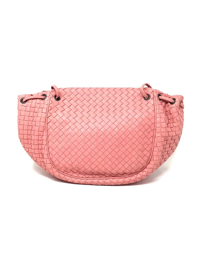 Bottega Veneta Pink Nappa Leather Crossbody Flap Messenger Bag