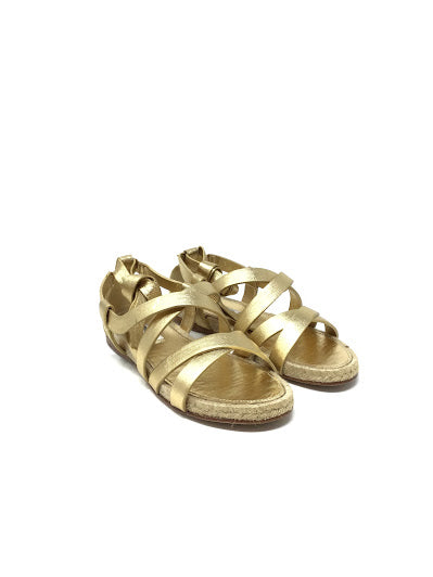 Miu Miu 35.5 Leather Wrap-Around Sandals
