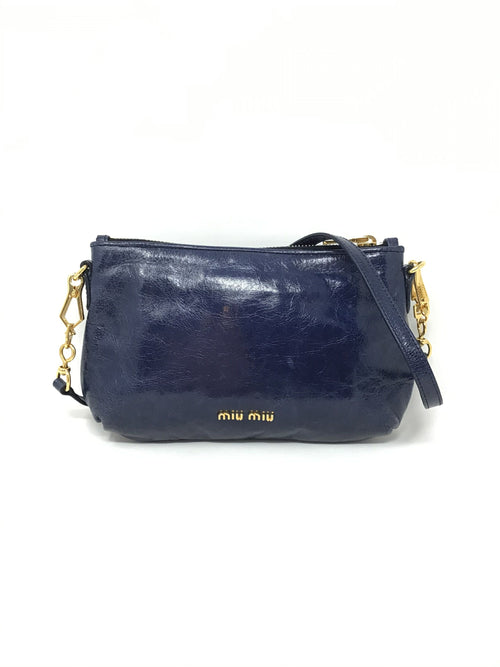 Miu Miu '14 Vitello 'Piatto' Bow Shoulder Bag W/ Chain