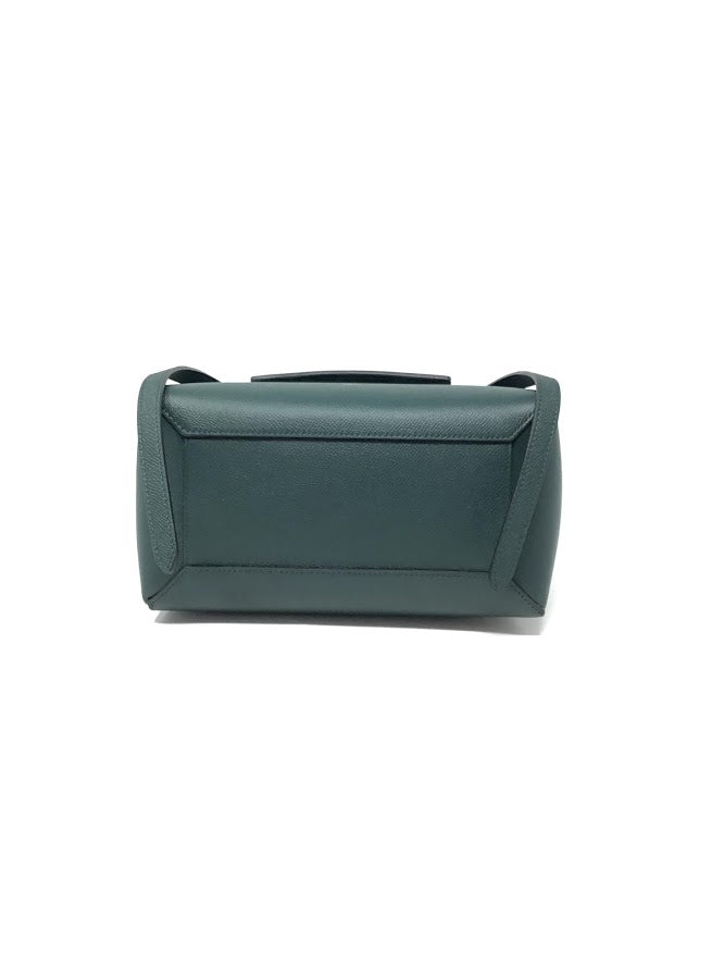 Celine Green 'MICRO' Grained Calfskin Belt Bag