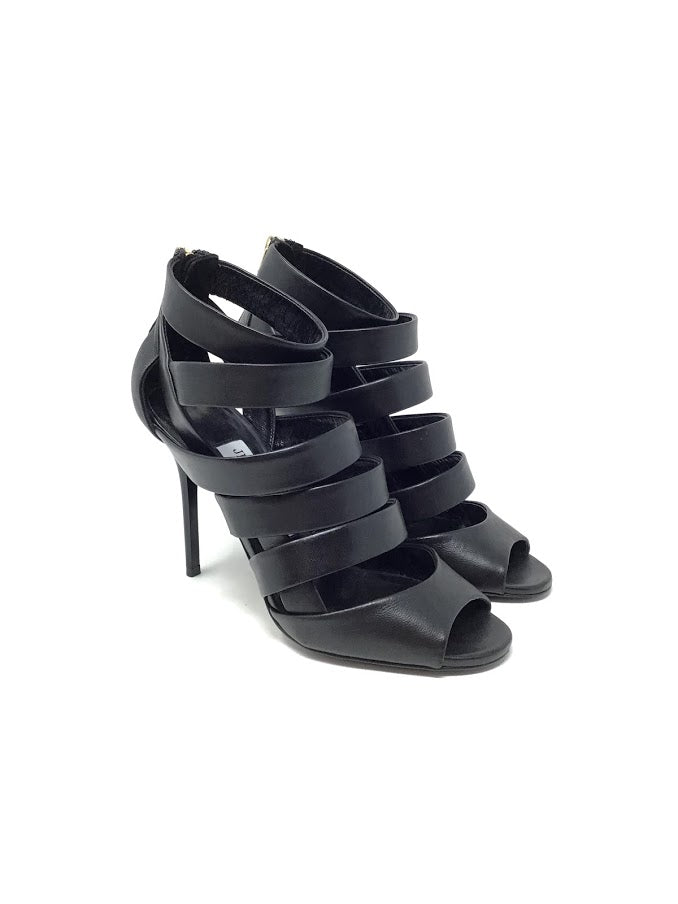 Jimmy Choo 36 Strappy 'Duran' W/Zip Back Heel