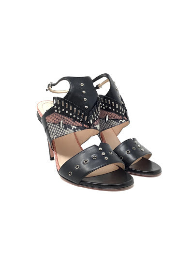 Fendi W Shoe Size 38.5 Snake Studded High Heels