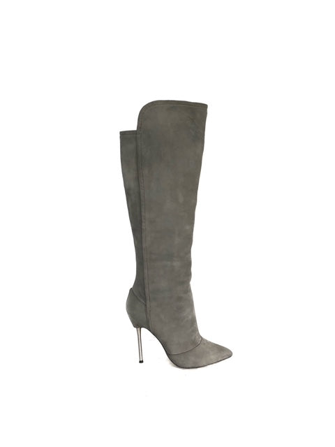 Brian Atwood 8.5 Suede Over the Knee Boot