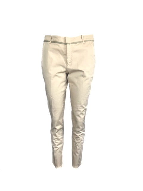 Brunello Cucinelli Size 8 Cream Pants