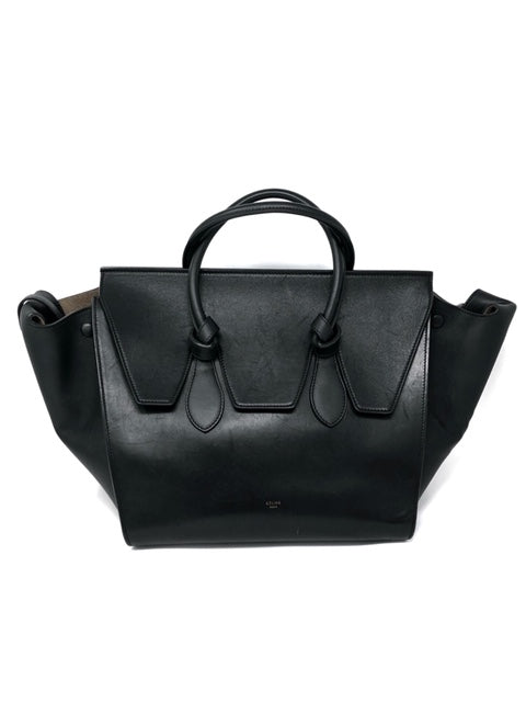 Celine Black Smooth Large Tie Knot Tote