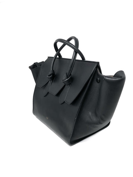 643c0d7b6 Celine Black Smooth Large Tie Knot Tote – The Little Bird