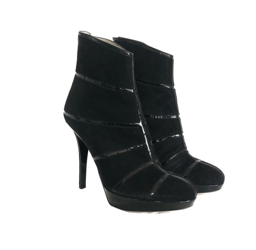 Dior Graphic 36 Patent Line Booties