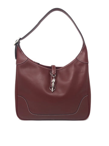 Hermes Ox Blood Courchevel Handbag