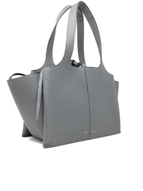 Celine Kohl  Small Tri-Fold Baby Grained Calfskin Tote