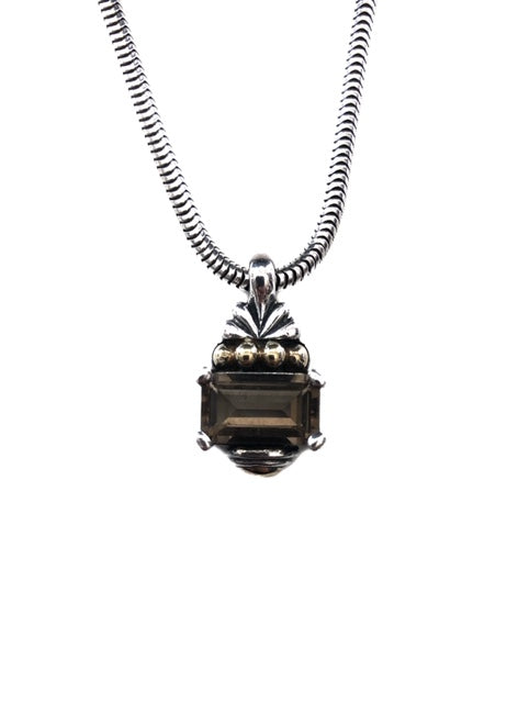 Lagos Sterling Smokey Quartz Pendant Necklace