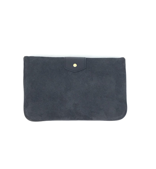 Louis Vuitton Charcoal LE! Sofia Coppola Slim Suede Clutch 2009