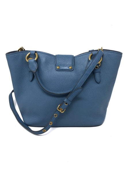 Miu Miu Blue Executive tote W/ Strap