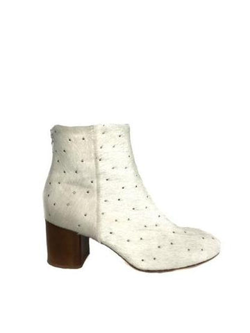 "Rag and Bone Size 37 ""Drea"" Studded Calf Hair Booties"
